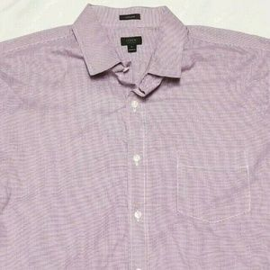 J. Crew Mens XL Long Sleeve Button Up 120s 2 Ply C